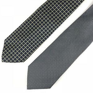 LOT of 2 Brooks Brother Maker Tie Navy Gold White